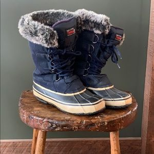 Thermolite insulated leather winter boots
